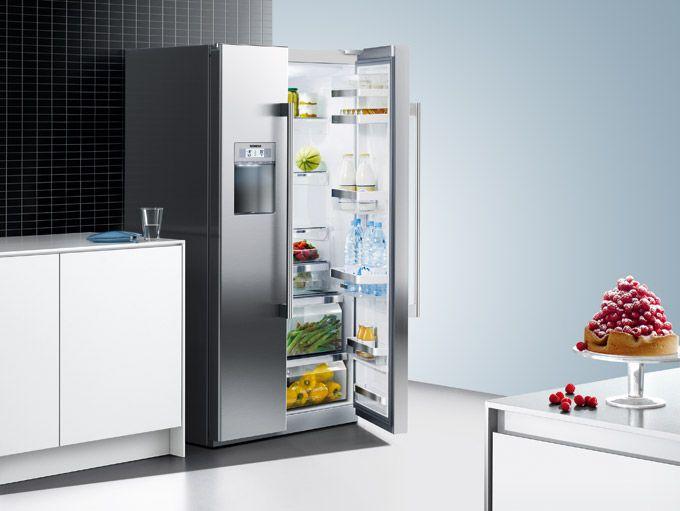 Küche Mit Side By Side Kühlschrank Integriert : Kühlen gefrieren hausgeräte elektrogeräte und küchenstudio